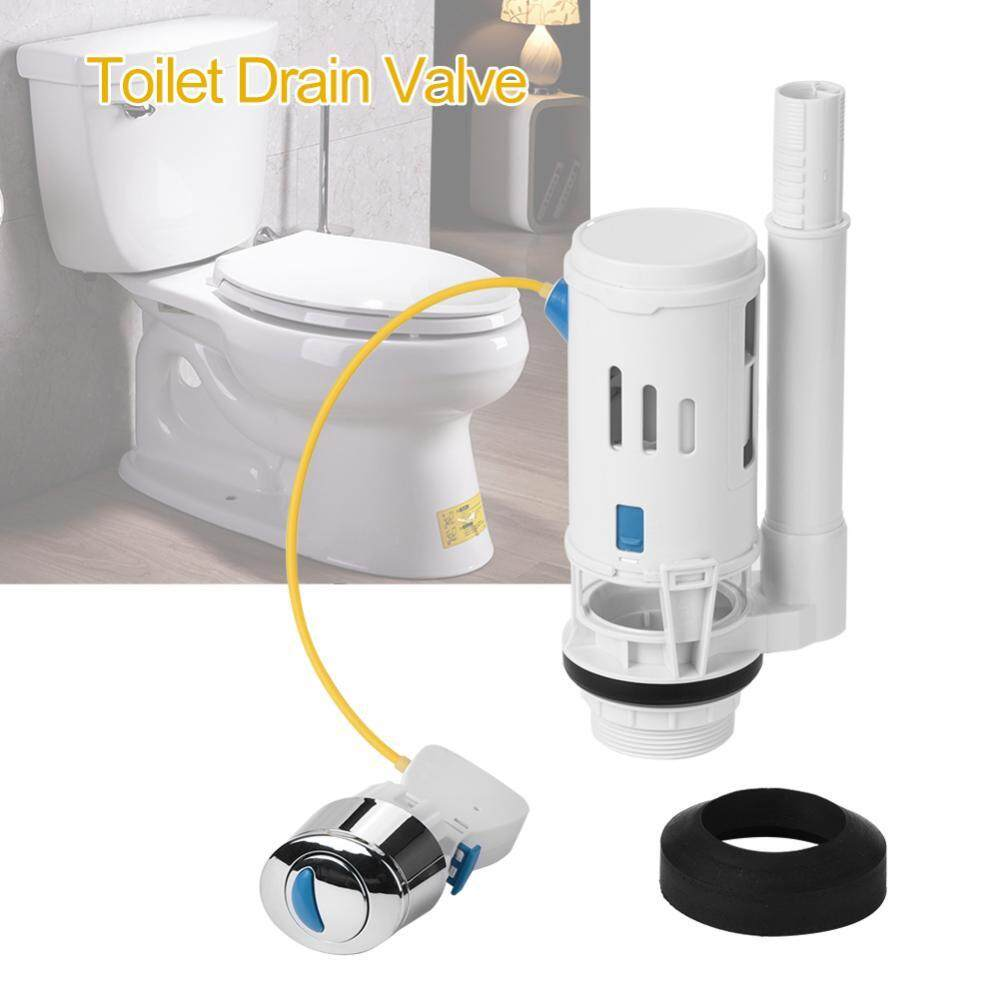 Abs Toilet Fitting Push Button Dual Drain Flush Valve Water Tank Accessory (two Piece Toilet) - Intl By Highfly.