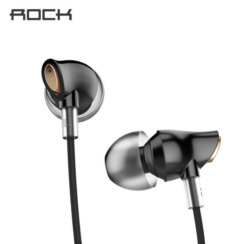 ROCK Zircon หูฟังสเตอริโอชุดหูฟังชนิดอินเอียร์ Micro 3.5 มม. Balanced Immersive BASS หูฟังสำหรับ iPhone สำหรับ Xiaomi Huawei