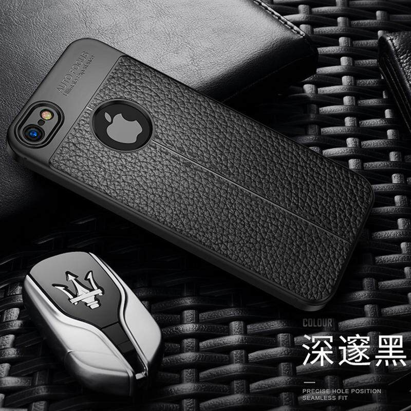 Apple ID 5S Casing HP 5S Silikon lima Trendi Pria Model Wanita Chasing luar iphone5se casing silikon Bungkus Penuh anti jatuh 5S sampul lunak hitam ...