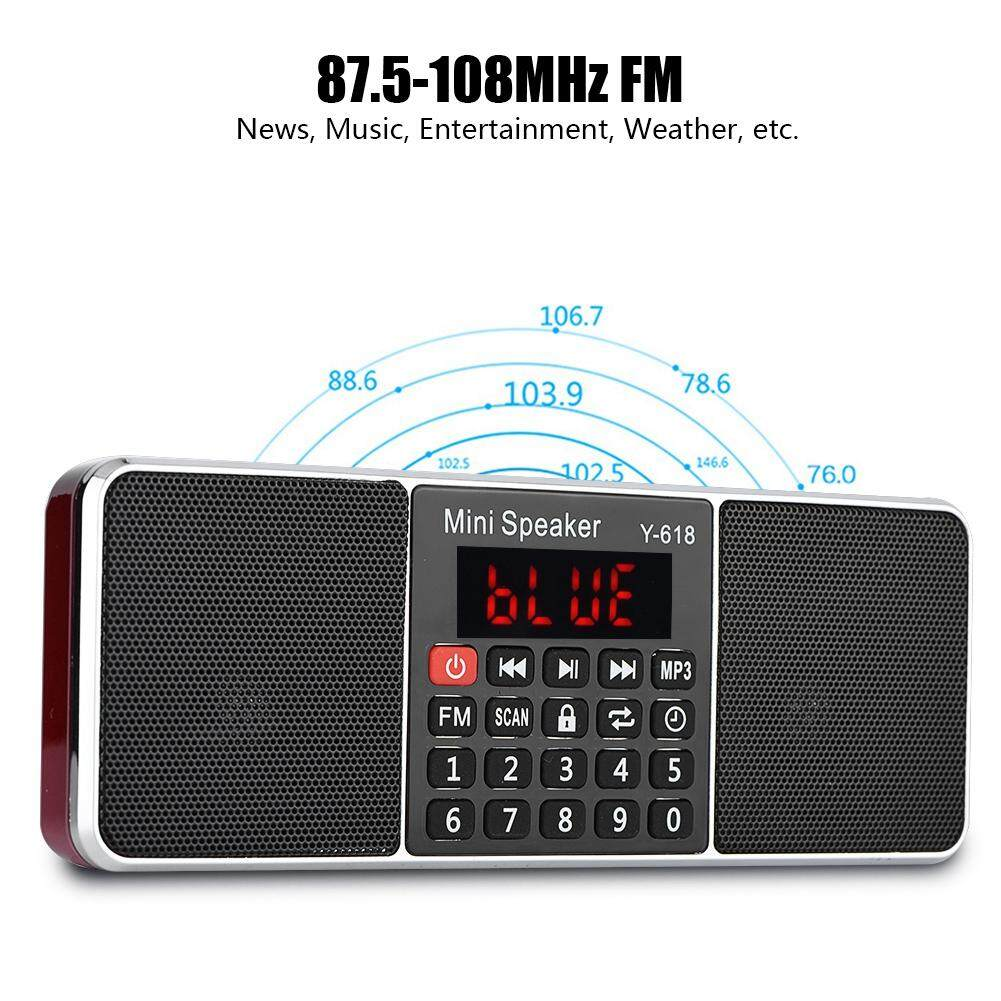 87.5-108mhz Stereo Fm Radio Pw Cut Memory Tf/usb Music Hands-Free Call Mp3 Player Radio - Intl By Duoqiao.