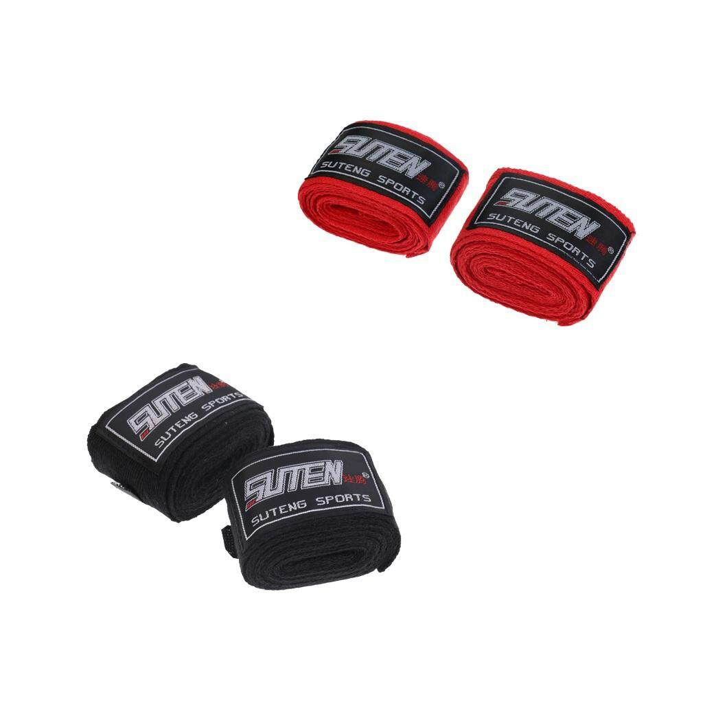 Miracle Shining 2 Pairs Cotton Boxing Hand Wraps Bandages Muay Thai MMA Inner Gloves - intl