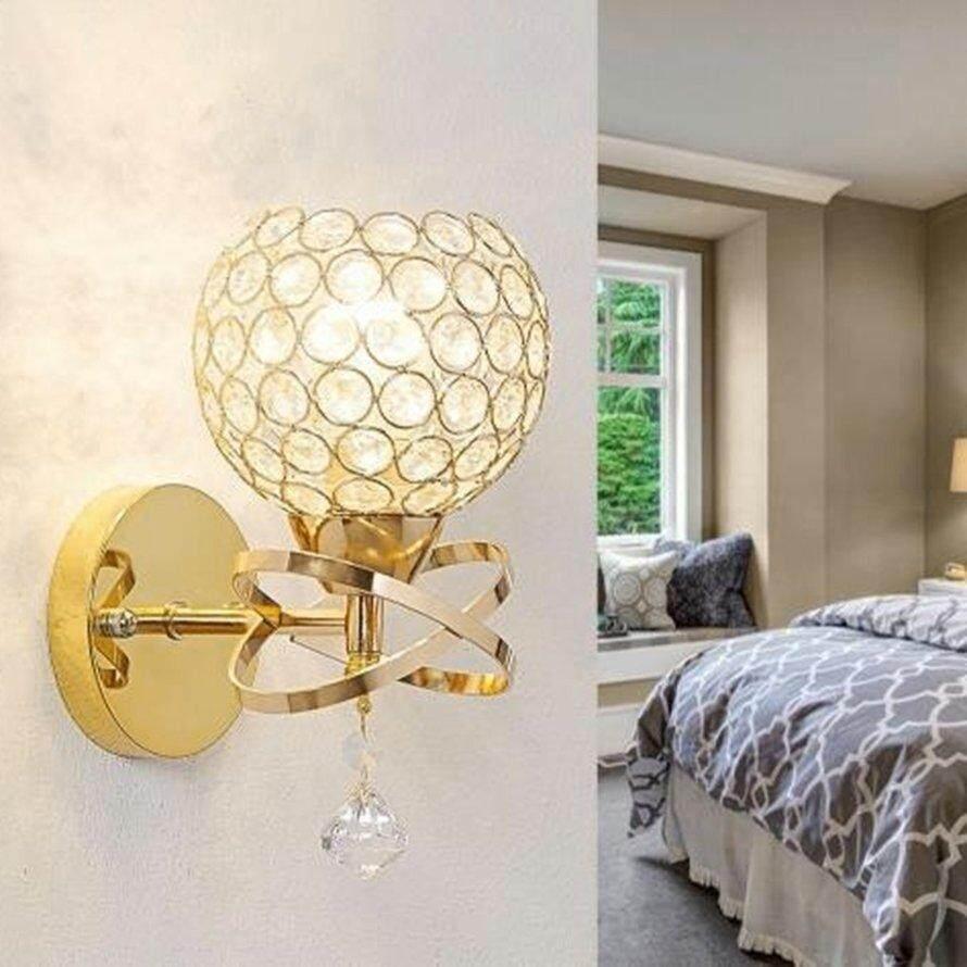 OSMAN LED Crystal Wall-mount Lamp Bedroom Lights Home Decor Modern E27 Wall Light