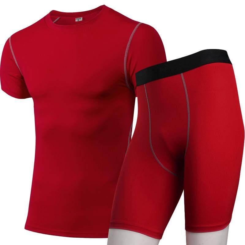 Celana Ketat Kompresi Pakaian Latihan Yg Hangat Pria Cepat Kering Olahraga Kaus Gym Celana Pendek Yoga