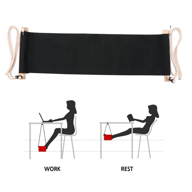 AOJBTENG Portable Adjustable Mini Office Foot Rest Desk Feet Hammock - intl