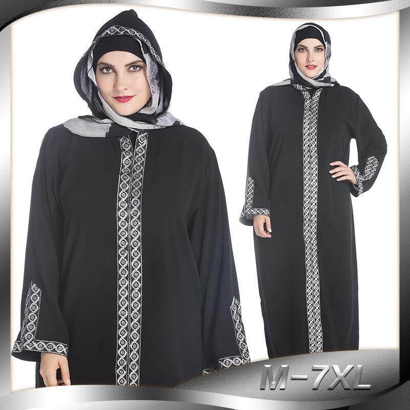 Arab Kostum Timur Tengah Turki Sisi Split Rok Bertudung Ibadah Gamis Muslim Ramadhan