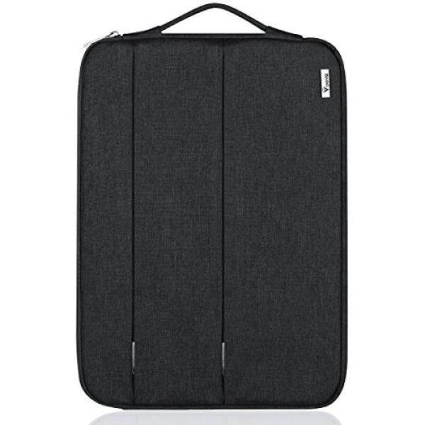 Laptop Sleeves Voova 14-15.6 inch Laptop Sleeve Case for 15 MacBook Pro 2016 / Surface Book 2, Waterproof Protective Bag for 14 15 ASUS Acer Lenovo Dell HP Samsung Chromebook Computers -Black - intl