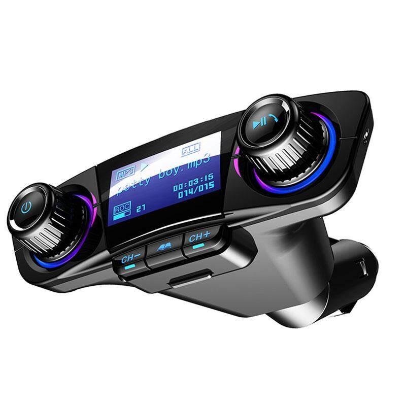 Hiqueen Pemutar Mp3 Transmiter Fm Modulator Aux Bluetooth Handsfree Mobil, Perlengkapan Audio Mobil Model:bt06 By Hiquuen