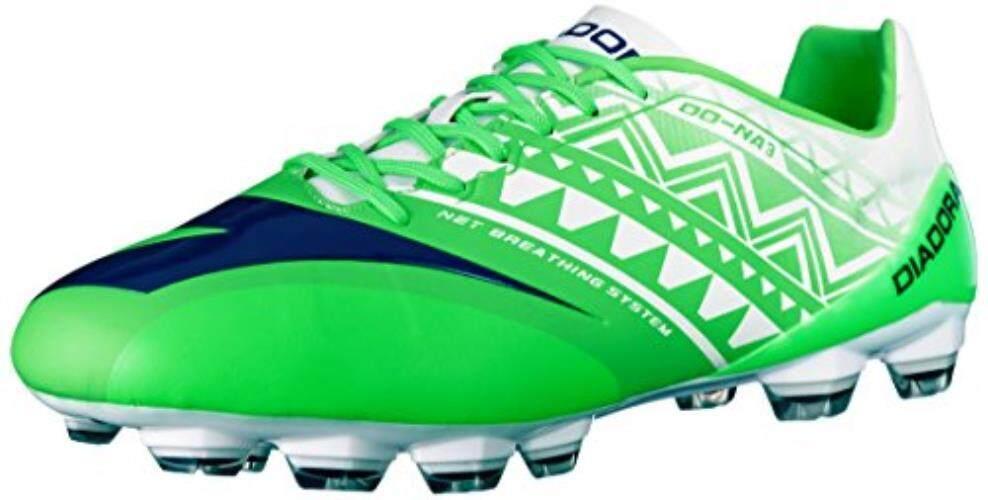Diadora Pria DD-NA 3 GLX14 Sepatu Sepak Bola, Fluo Hijau/Putih 7.5 M US-Intl