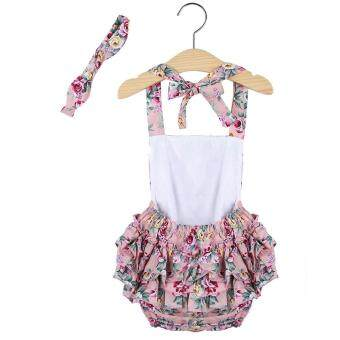 915df09c836 Cheapest today L Sweet Ruffled Flower Babies Backless Rompers with Headband  ล่าสุด - มีเพียง ฿222.55