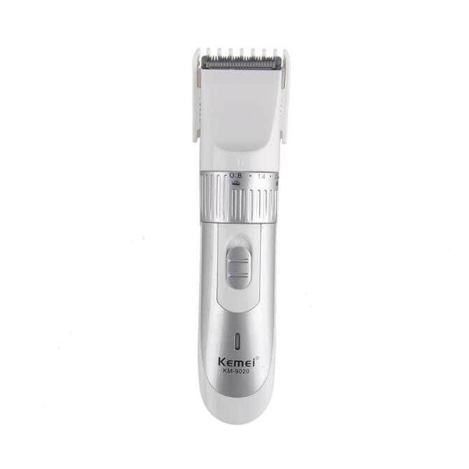 Kemei Rechargeable Adult Children Professional Hair Salon Home Electric Hair Clippers Hair Clippers Km-9020(color:silver) By The Nanlianmei Shop.