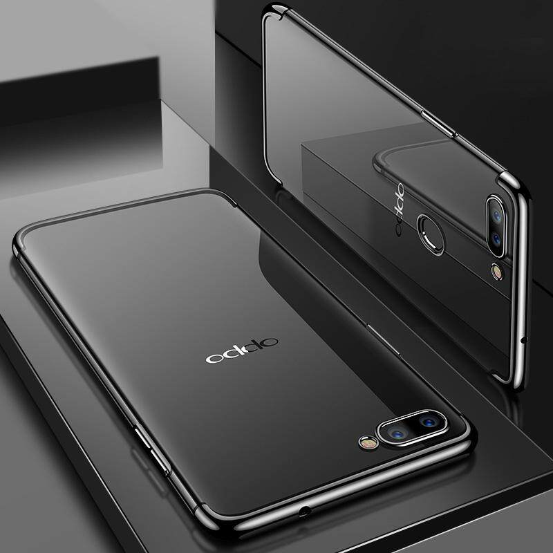 Features For Oppo F9 Case Soft Transparent Plating Cover For Oppo F9
