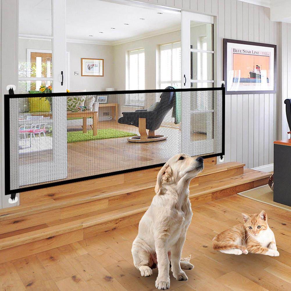 Magic Cube Portable Folding Safety Magic Gate Guard Mesh Safe Fence Net For Pets Dog Puppy Cat By Magic Cube Express.