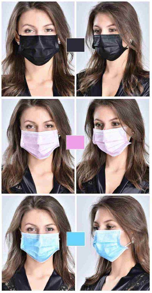 Yuchen 100pcs Face Mask Surgical Disposable 3 Layer Face Mouth Mask Filter Face Salon Ear Loop Style Medical Mouth Flu Mask (10 Pieces X 10 Pack) - Pink