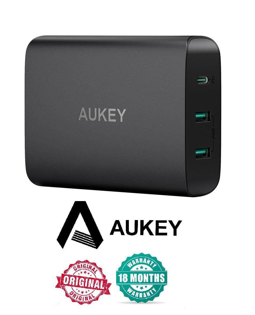 Aukey PA-Y12 60W USB C Power Delivery 3.0 & Dual Port USB Desktop Charger (18 MONTHS WARRANTY)