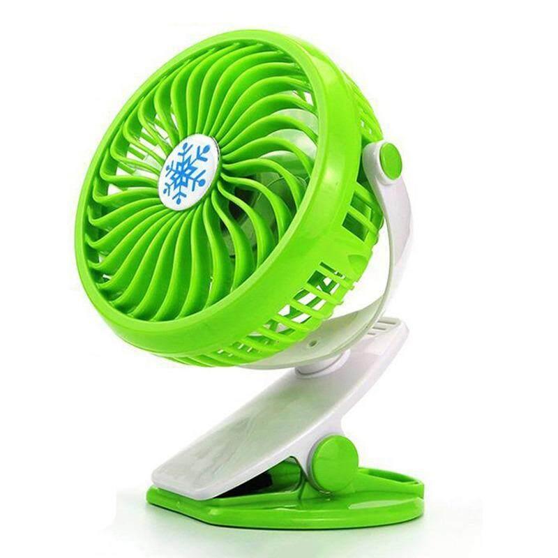 Desktop Fan, Portable Mini Fan, Personal Desk Fan, Quiet Fan, Charging Air, Cooler Stepless Speed Two-Way Rotary 360 Degrees (Green)