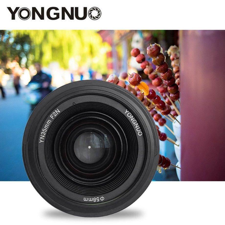 Era Yongnuo YN35N Tetap Lensa Fokus F2.0 Wide-Angle untuk Nikon Kamera DSLR