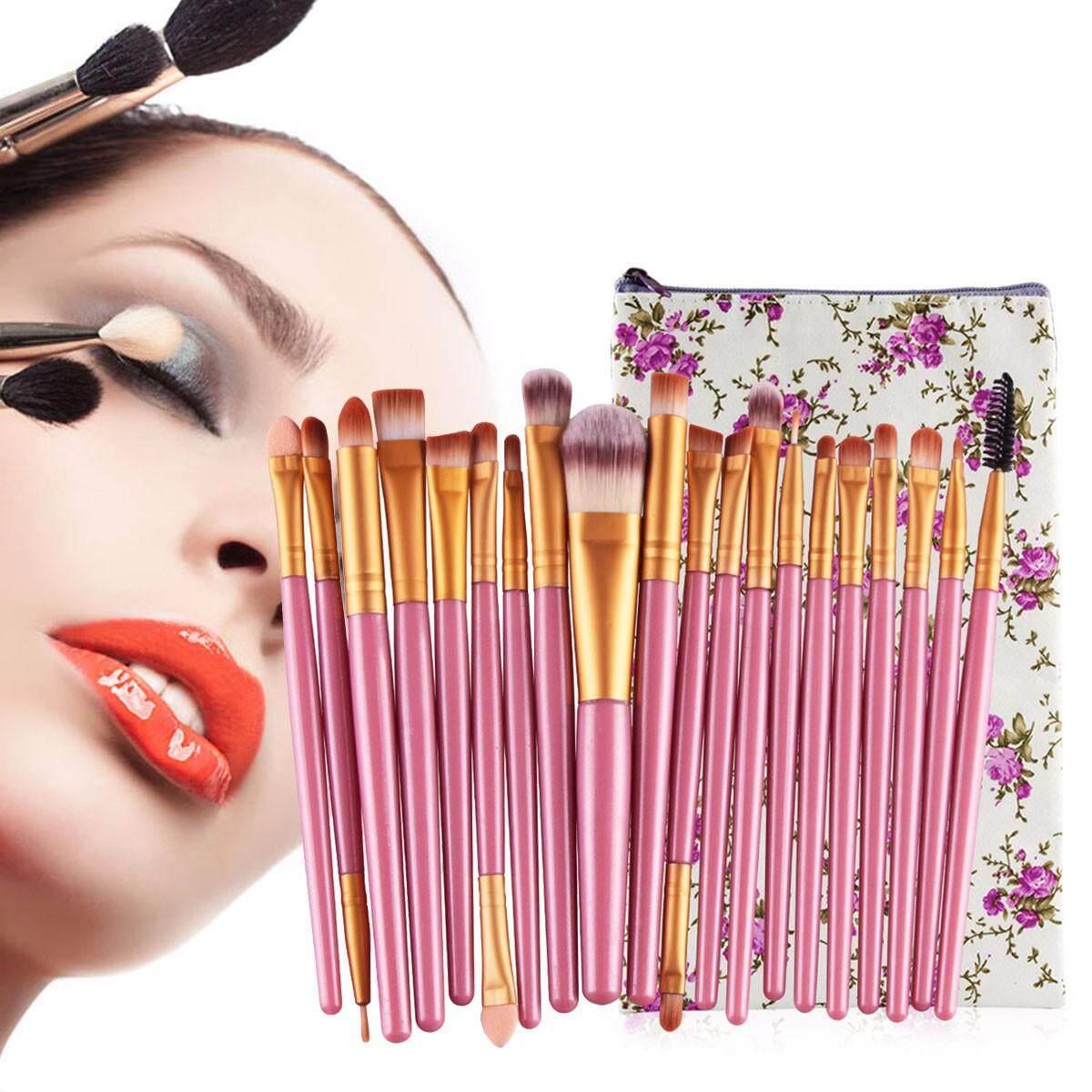 Maange 20 Buah Set Kuas untuk Make Up Profesional Pemulas Mata Foundation Alis Makeup Bibir Paket