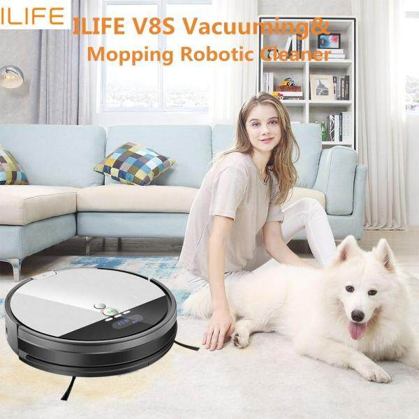 ILIFE New Product V8s Robotic Vacuum Cleaner Wet and Dry mode,Smarter technical cleaning Mopping Robotic Cleaner with LCD Display Singapore
