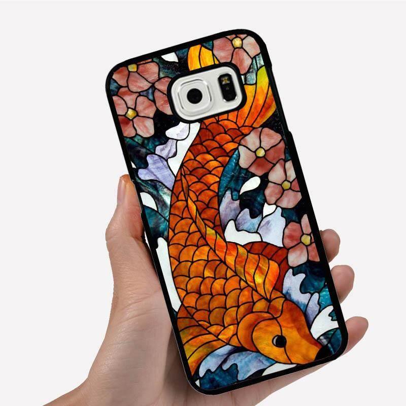 Casing Ponsel untuk Xiaomi Redmi 3 S dengan Satu Jeruk Ikan dan Bunga Gambar Kartun Pola Plastik Anti-Knock telepon Case Cover