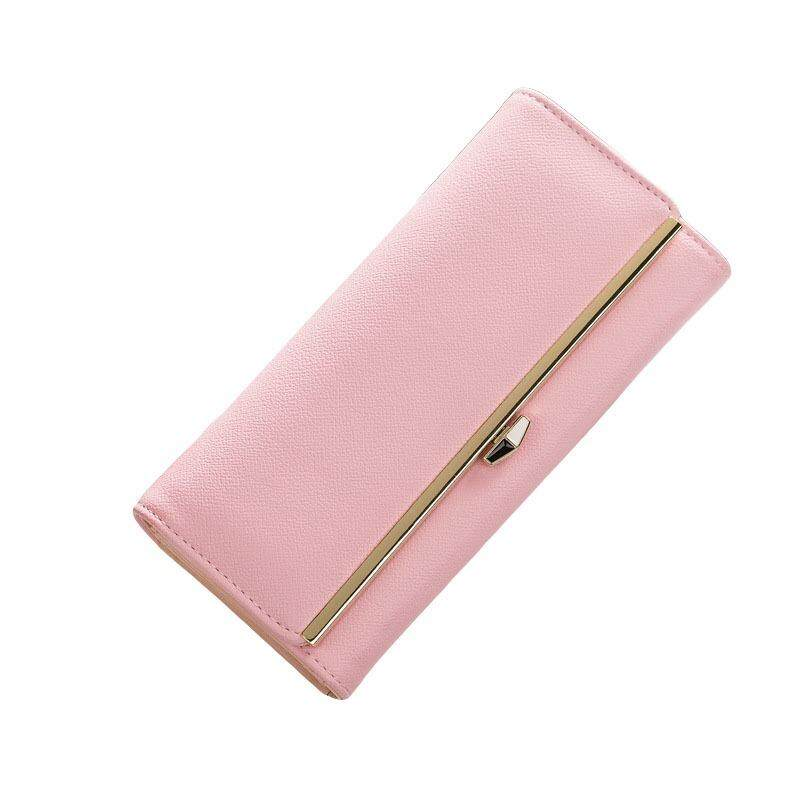 WLT-109 Nova Hubert 8M260 Woman Luxury Fashion Big Space Coin Card Wallet Purse [PINK]