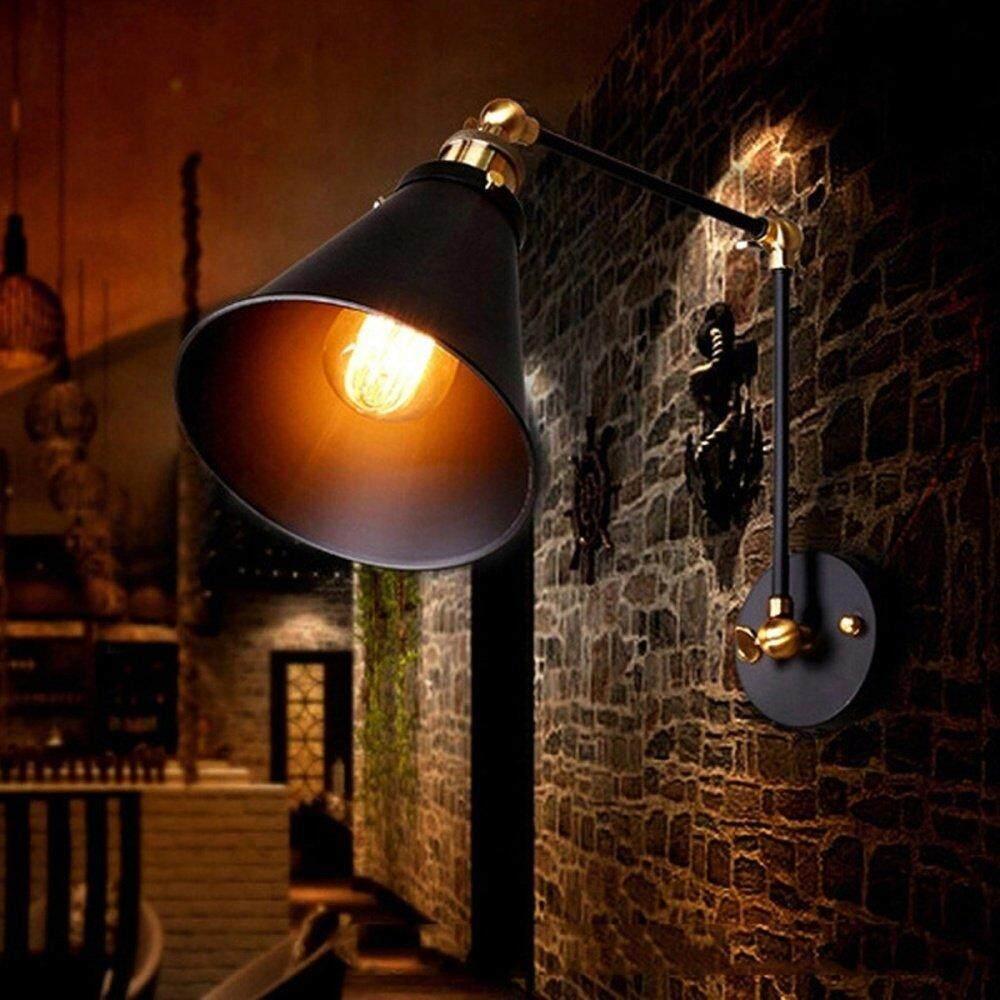 RHS Online Vintage Retro Industrial Swing Arm Sconce Wall Light Loft Lamp Lighting Fixture