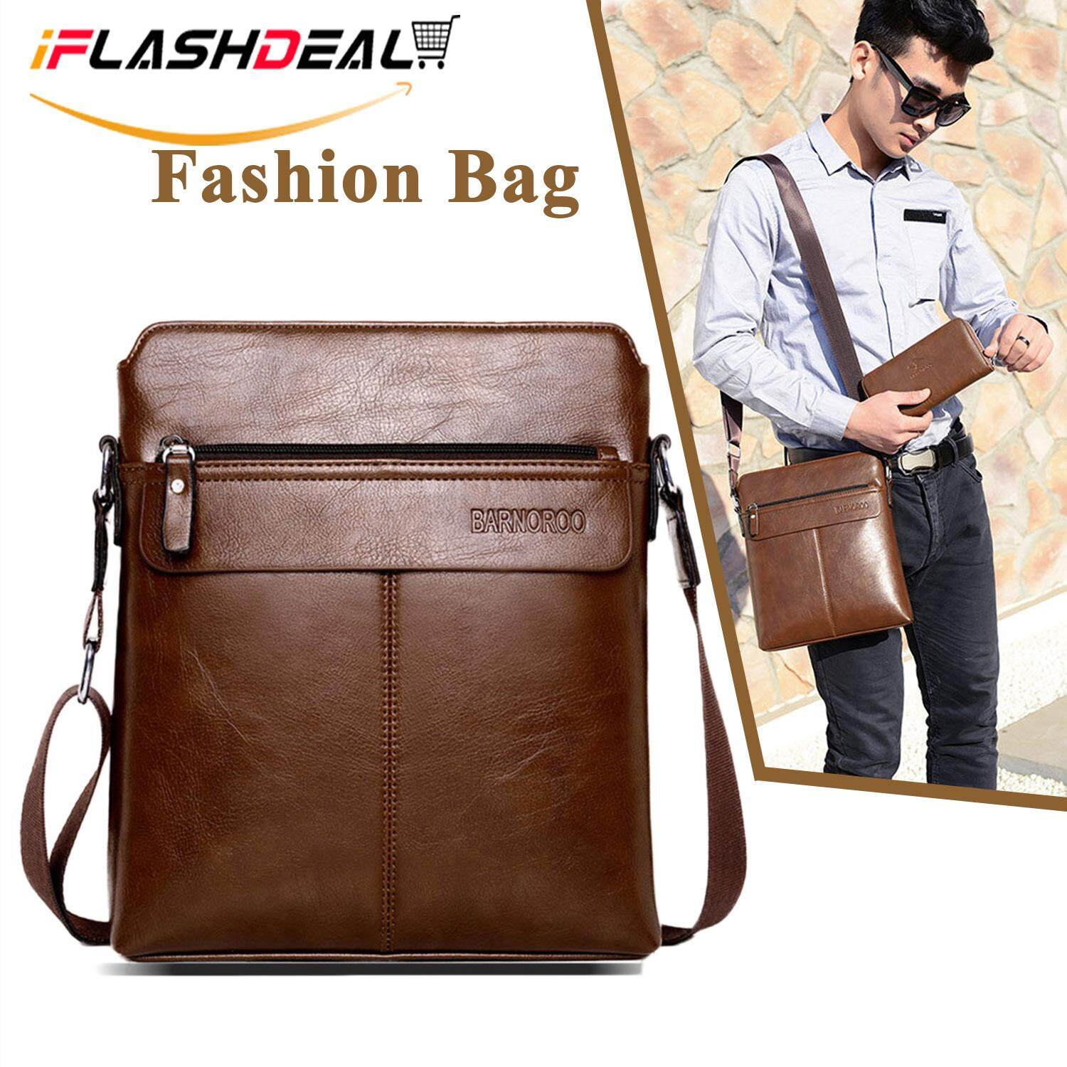 35c1538fa6a2 iFlashDeal Sling Bag Men Messenger Bags PU Leather Crossbody Shoulder Pouch  Bags Business Bags Men Fashion