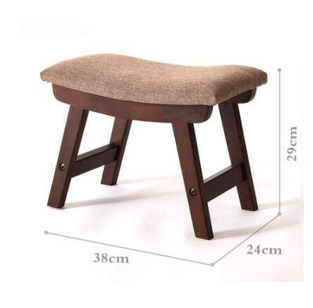 Footstool Chair Pufe Taburetes Kruk Simple Stools Solid Wood Shoes Living Room Household Cloth Small Adult Modern Wooden(40*30*25cm)