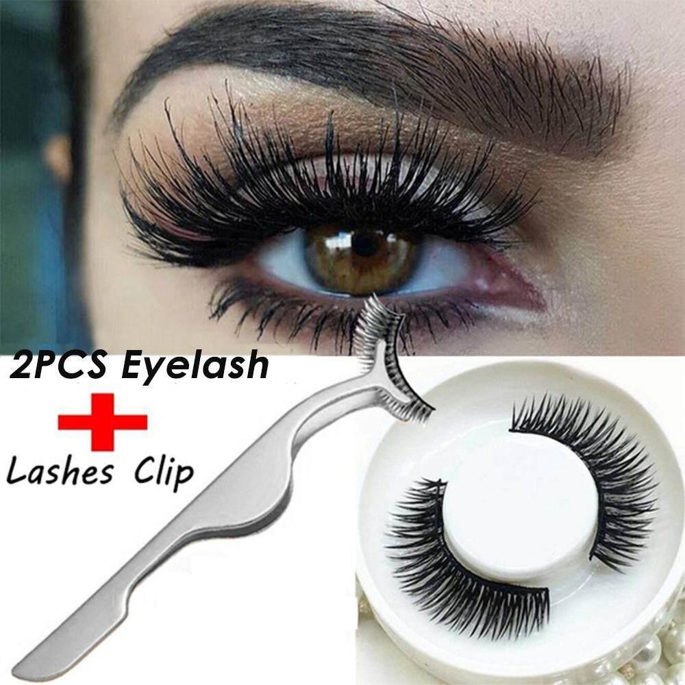 Orzbuy 1 เซ็ต 3d ขนตาแม่เหล็ก Magnetic ขนตาแม่เหล็ก Ic Eye Lashes ชุดแต่งหน้า + 1 ชิ้นขนตาปลอมคลิป (สีสุ่ม) - Intl.