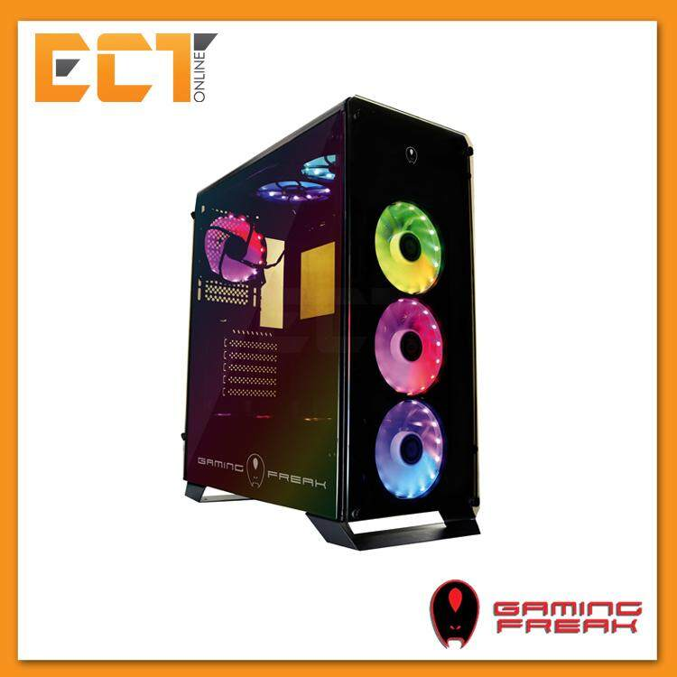 AVF Gaming Freak Aegis 850G Rainbow Tempered Glass ATX Gaming Casing Chassis Malaysia