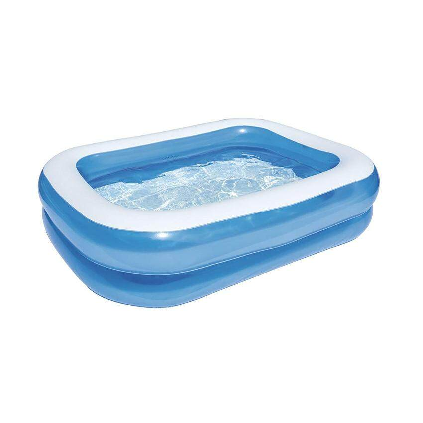 Bestway 54005 Blue Rectangular Family Pool 2.01m x 1.50m x 51cm Summer Garden Kids Family Swimming Pool
