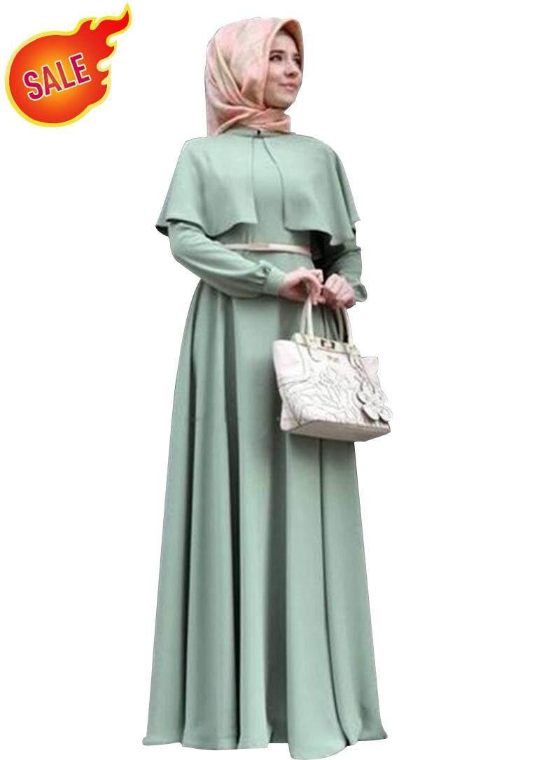 Features Fashion Muslim Dress Long Sleeve Women Arabic Dubai Abaya Anneyep Printed Flowers Kaftan Maxi 2018 Islamic Hijab Black Simple Clothing Traditional
