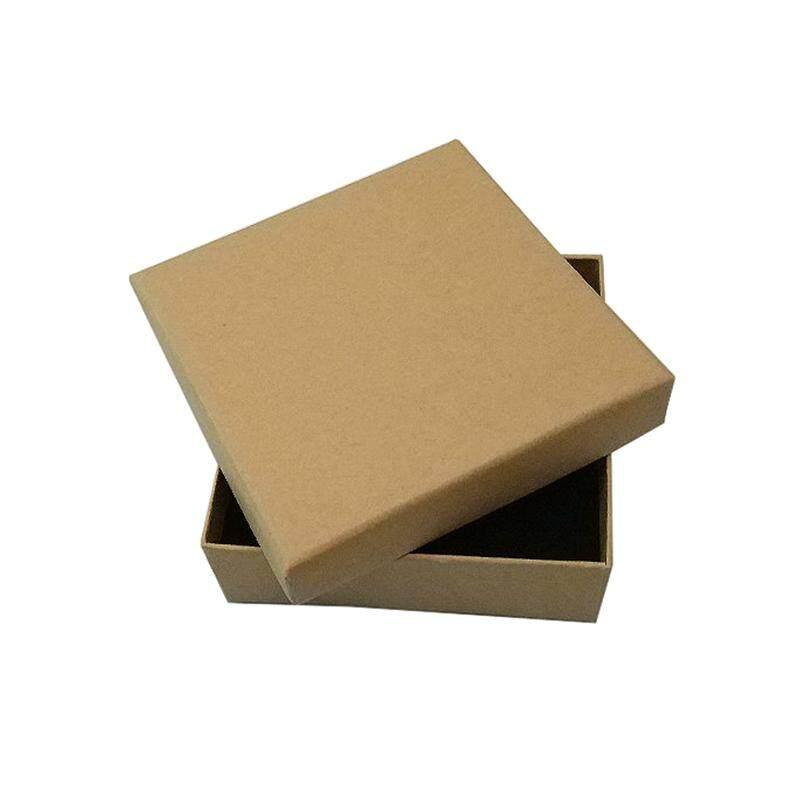 16 Pieces dari Kardus Kraft Kotak Perhiasan, 9*9*3 Cm-Intl