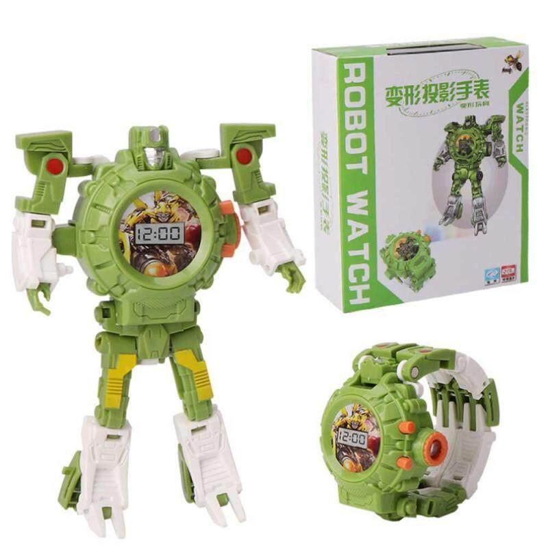 Leegoal Biến Đổi Đồ Chơi Robot Dây, 3 Trong 1 Chiếu Trẻ Em Đồng Hồ Kỹ Thuật Số Biến Dạng Bot Đồ Chơi, sáng Tạo Giáo Dục Học Xmas Đồ Chơi Cho bé 3-12 Tuổi Dành Quà Tặng bán chạy