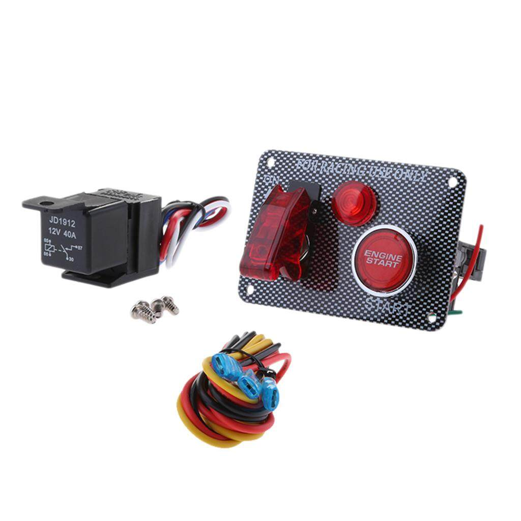 Features Miracle Shining Racing Car 12v Led Toggle Ignition Switch Panel Engine Start Push Button How To Wire A 4