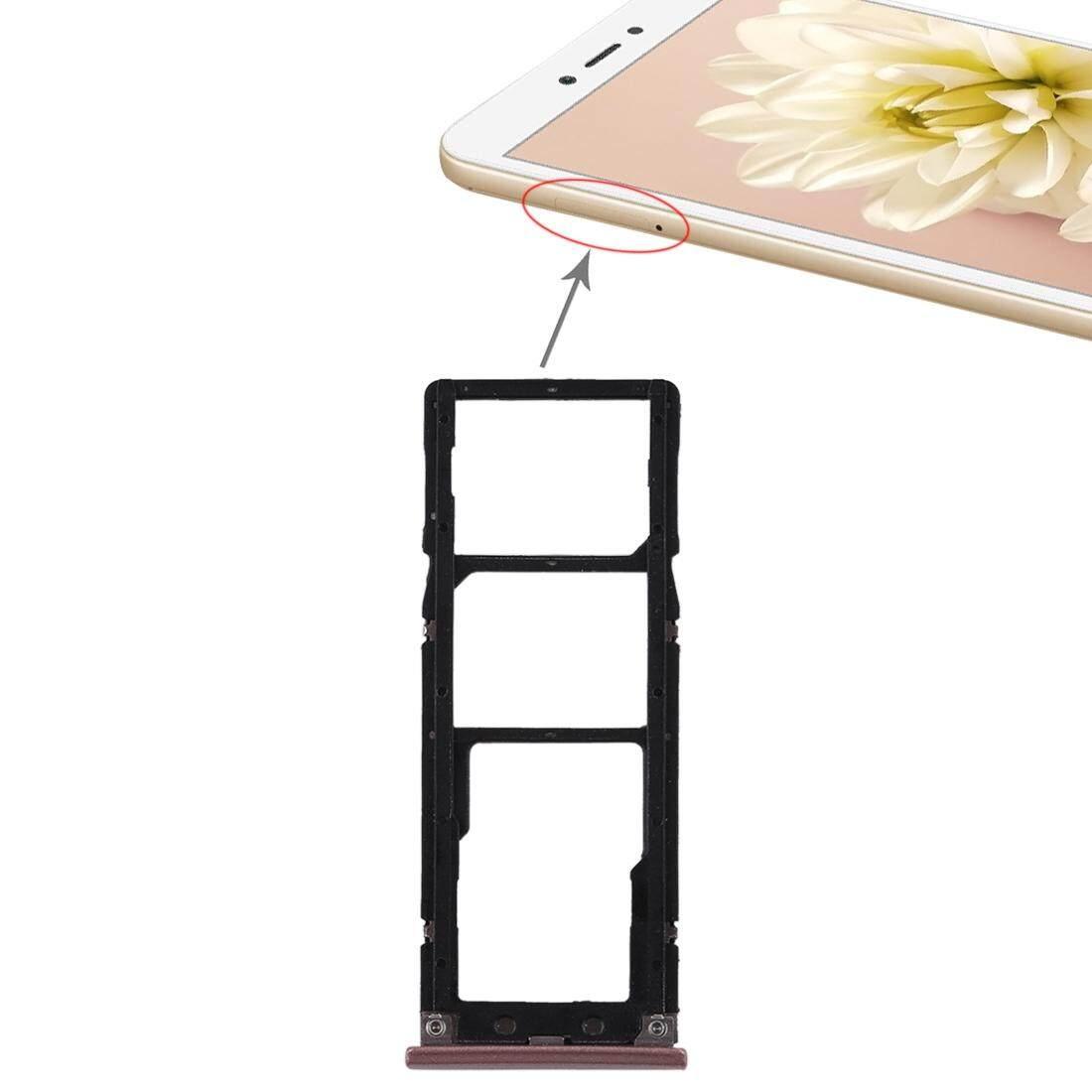 2 Kartu SIM + Micro Tray SD Card untuk Xiaomi Redmi Note 5A (Mawar Emas)