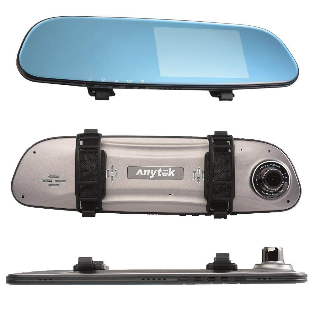 ANYTEK G77 4.3-inch Touch Screen Monitor Car DVR with Night Vision Dual Lens FHD 1080P WDR Car Dash Camera