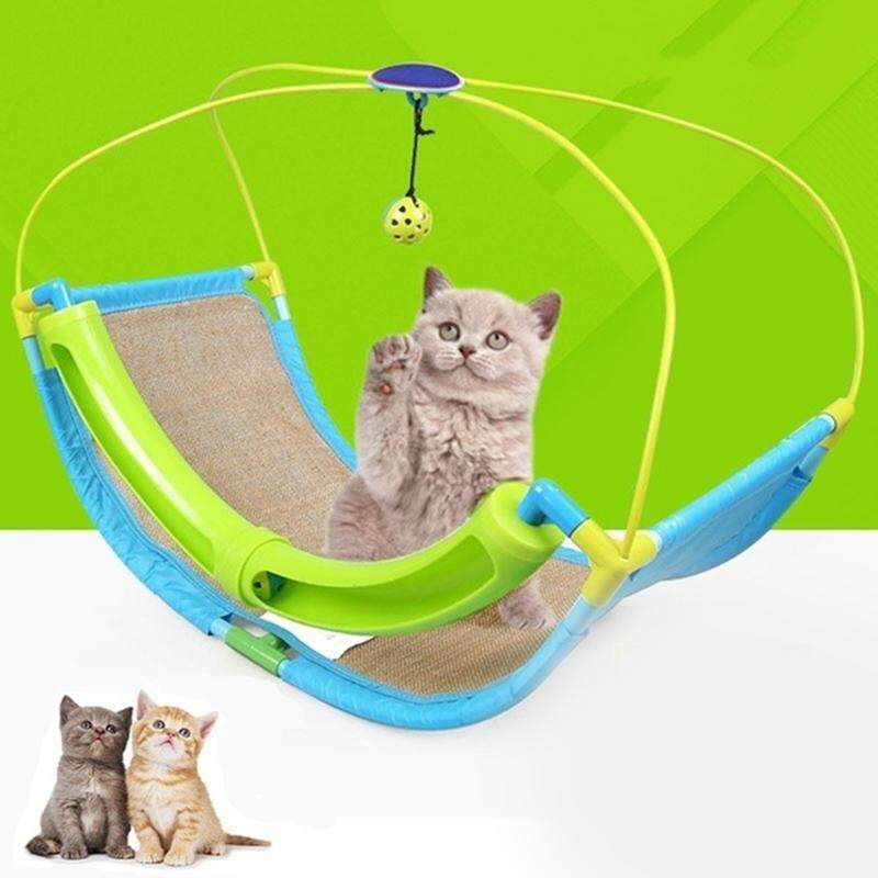 Multifunction Pet Cat Hammock Funny Hanging Swing Bed Sofa Rest House with Bells Ball for Pets Kitten Ferret Free Shipping