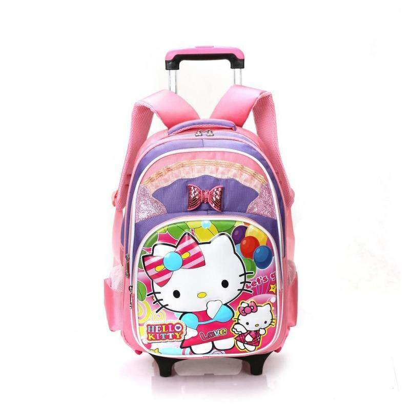 Student Trolley School Bag Children Removable backpack MWT8