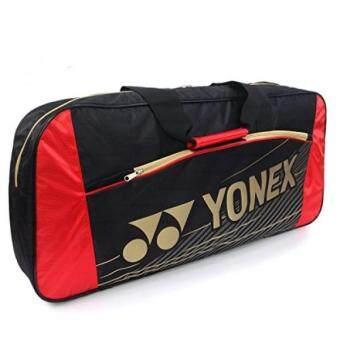 ล่าสุด Yonex BAG 4711 EX Tournament Badminton Racket Bag Black/Red - intl ราคาถูกที่สุด