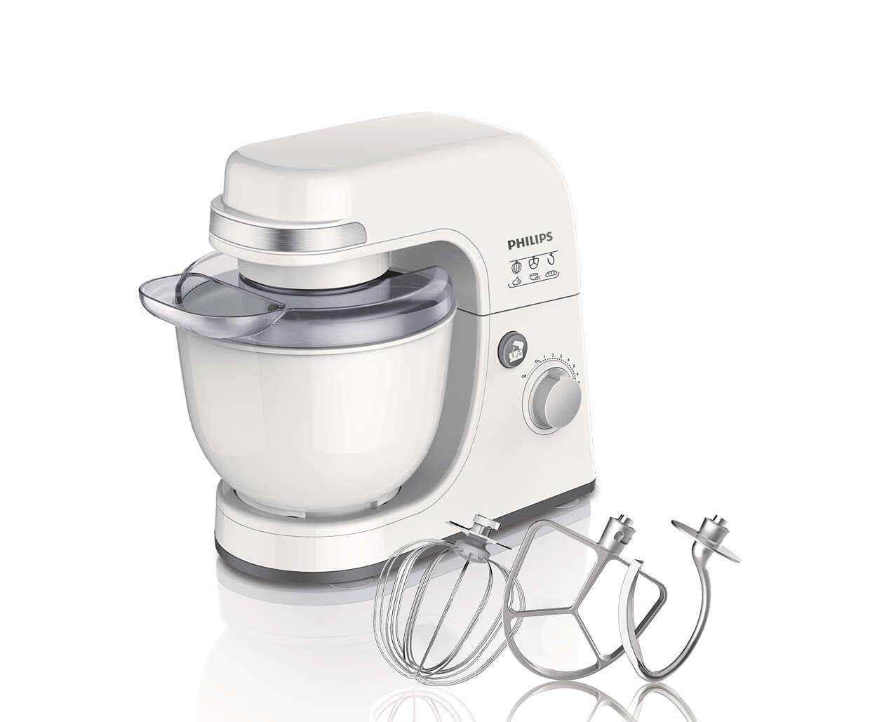 Philips Viva Collection Kitchen Machine (300W, 4L, White) HR7915/00 ( HR7915/00 )