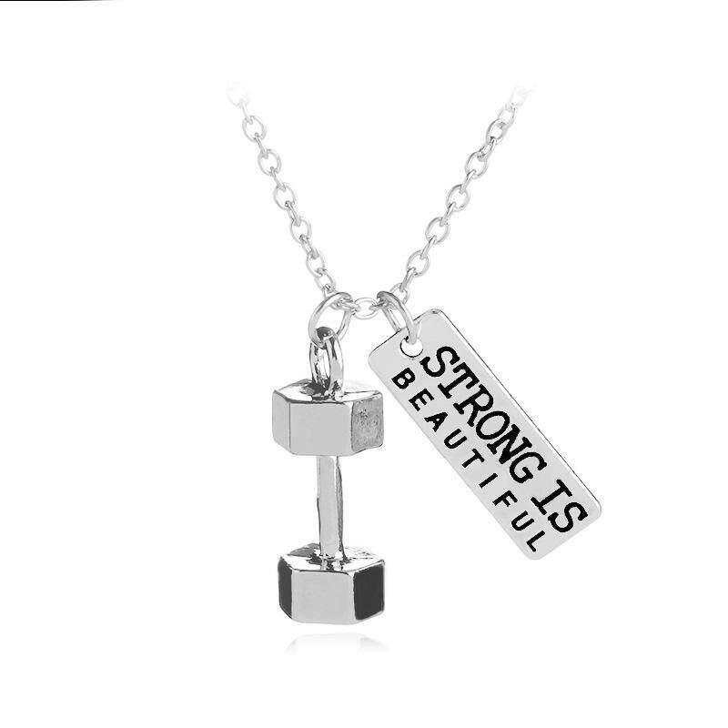 BOOM-Fashion Equipment Mrampmr Pendant Necklace Silver Chain Fitness - intl