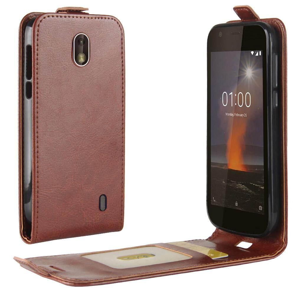 Moonmini Case untuk Nokia 1 Case Terbaru Kulit PU Dropproof Anti-Menggaruk Ponsel Case Sarung dengan Kartu Slot -Internasional
