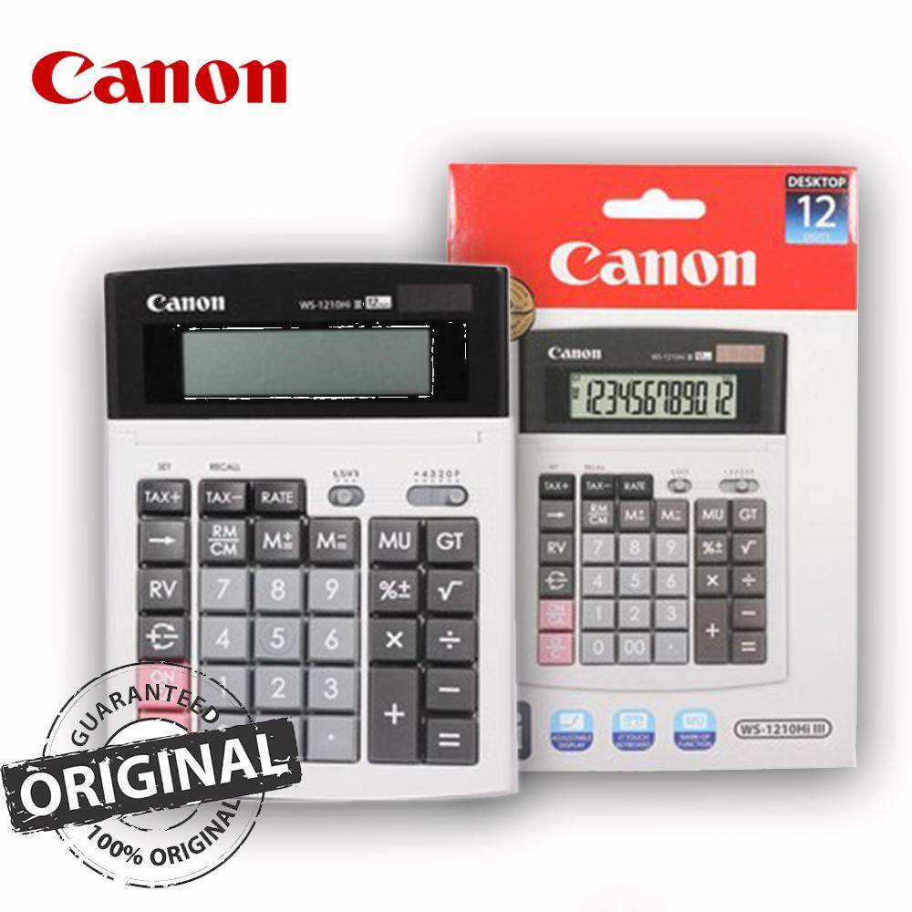 Canon 12-Digit Desktop Calculator, Tax Calculation, IT Touch Keyboard WS-1210Hi III