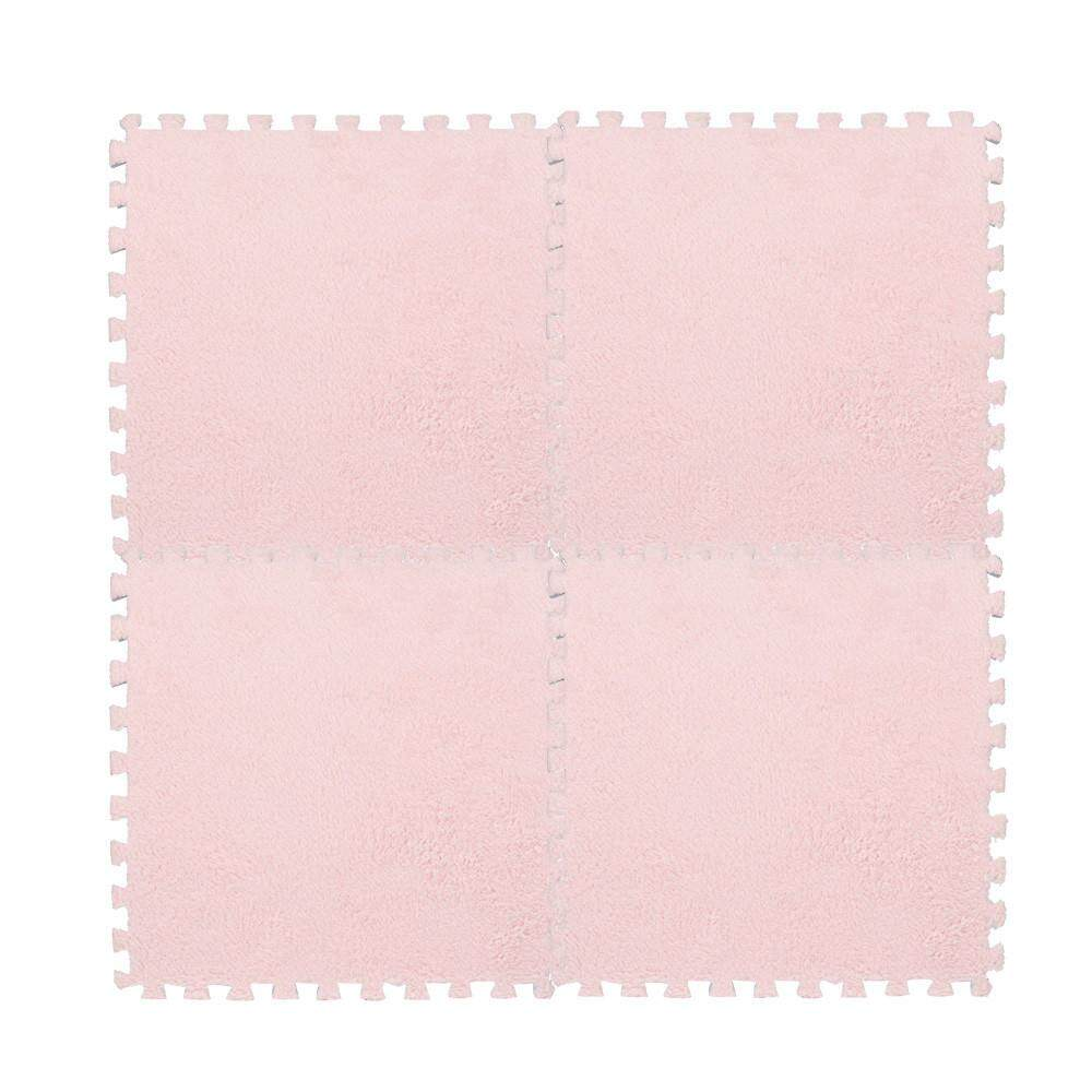 30*30cm Kids Carpet Foam Puzzle Mat Eva Shaggy Velvet Baby Eco Floor 7 Colors.