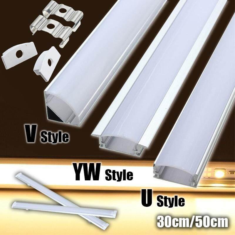 idealhere 30/50cm U/V/YW Aluminum LED Strip Light Bar Channel Holder Cover End Up - intl Singapore