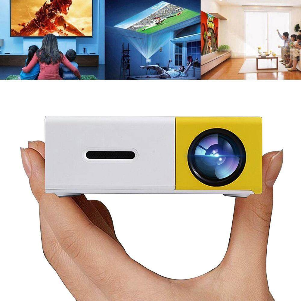 Hazobau LED Proyektor Mini Proyektor LED Portabel Mendukung Buah USB Tongkat USB/SD/AV/HDMI Masukan untuk video/Film/Permainan/Video Rumah Theater-Internasional