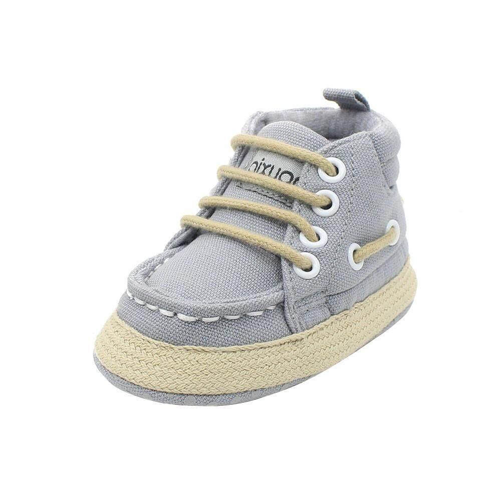 Cocol Max Balita Laki-Laki Perempuan Berenda Sepatu Prewalker Boks Sol Lembut Sneakers Co/11 By Cocolmax.