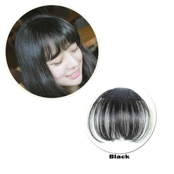 YBC Wanita Klip Poni Rambut Ekstensi Fringe Hairpieces Rambut Sintetis Salah Klip-Internasional