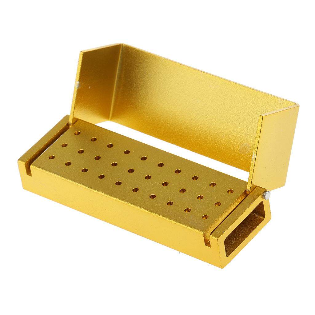 Miracle Shining 30 Holes Dental Bur Holder Block Case Autoclave Disinfection Box Yellow