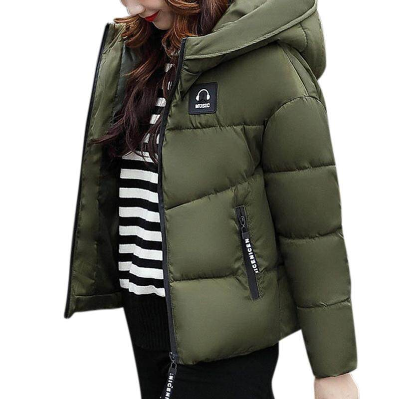 Xiziy Women Cotton Padded Jacket Zipper Short Hooded Coat Winter Warm Tops For Ladies Fashion Accs By Xiziy.